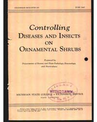 Controlling Diseases and Insects on Orna... by Michigan State University