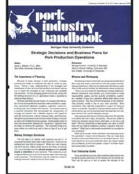 Pork Industry Handbook, Document E2714 by David L. Meeker