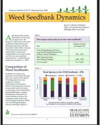 Weed Seed Bank Dynamics, Document E2717 by Karen A. Renner