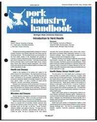 Pork Industry Handbook, Document E2729 by D. L. Hank Harris
