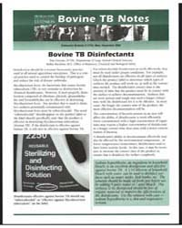 Bovine Tb Notes, Document E2733 by Dan Grooms