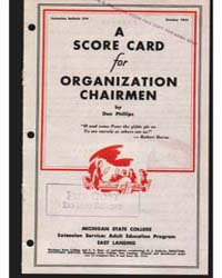 A Score Card for Organization Chairmen, ... by Don Phillips