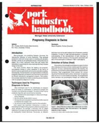 Pork Industry Handbook, Document E2742 by W. L. Flowers