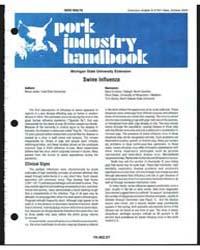 Pork Industry Handbook, Document E2743 by Bruce Janke