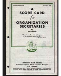 A Score Card for Organization Secretarie... by Don Phillips