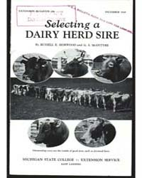 Selecting a Dairy Herd Sire, Document E2... by Russell E. Horwood