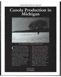 Canola Production in Michigan, Document ... by L. O. Copeland