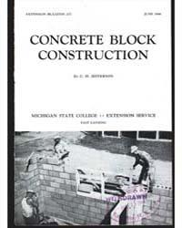 Concrete Block Construction, Document E2... by C. H. Jefferson