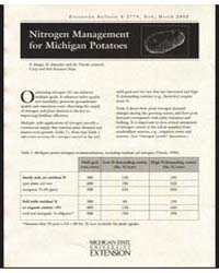 Nitrogen Management for Michigan Potatoe... by S. Snapp