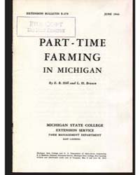 Part-time Farming in Michigan, Document ... by E. B. Hill