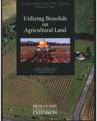 Utilizing Biosolids on Agricultural Land... by Michigan State University