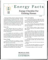 Energy Checklist for Existing Homes, Doc... by Michigan State University