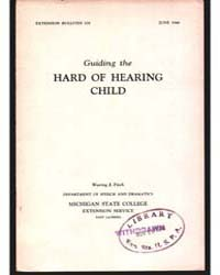 Guiding the Hard of Hearing Child, Docum... by Waring J. Fitch