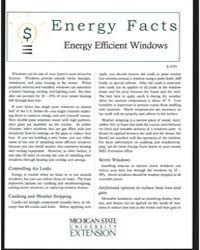 Energy Efficient Windows , Document E279... by Michigan State University