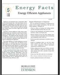 Energy Efficient Appliances, Document E2... by Michigan State University