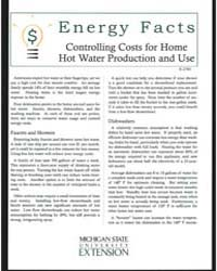Controlling Costs for Home Hot Water Pro... by Michigan State University