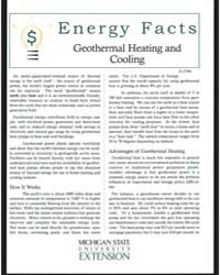 Geothermal Heating and Cooling, Document... by Michigan State University