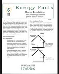 Home Insulation Lower Your Energy Costs ... by Michigan State University