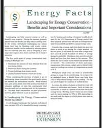 Landscaping for Energy Conservation-bene... by Michigan State University