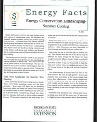 Energy Conservation Landscaping-summer C... by Michigan State University