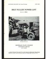 Belt Pulley Power Lift, Document E282Pri... by Bell, A. J.