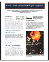 Cover Crop Choices for Michigan Vegetabl... by Sieglinde S. Snapp
