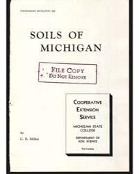 Soils of Michigan, Document E290 by C. E. Millar