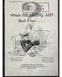Which Hearing Aid Shall I Buy, Document ... by Leroy D. Hedgecock