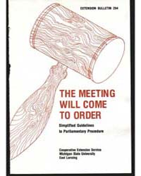 The Meeting will Come to Order, Document... by Harold Sponberg
