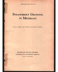 Strawberry Growing in Michigan, Document... by R. E. Loree