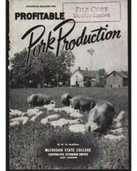 Profitable Pork Production, Document E29... by W. N. McMillen