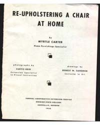 Re-upholstering a Chair at Home, Documen... by Myrtle Carter