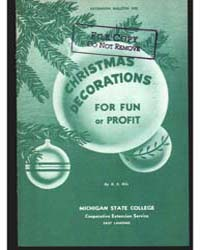 Christmas Decoration for Fun or Profit, ... by R. E. Dils