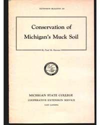 Conservation of Michigan's Muck Soil, Do... by Paul M. Harmer