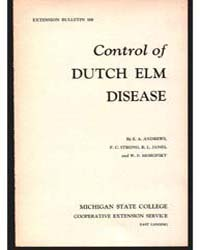 Control of Dutch Elm Disease, Document E... by E. A. Andrews