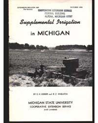 Supplemental Irrigation in Michidan, Doc... by E. H. Kidder
