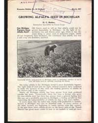 Growing Alfalfa Seed in Michigan, Docume... by Rather, H. C.