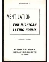 Ventilation for Michigan Laying Houses, ... by Bell, A. J.