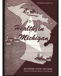 Health in Michigan, Document E319 by Charles P. Loomis