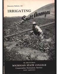 Irrigating Small Acreages, Document E320 by John R. Davis