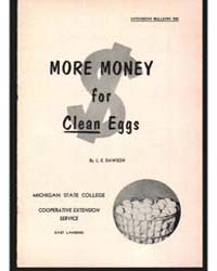 More Money for Clean Eggs, Document E322 by L. E. Dawson