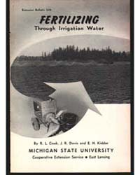 Fertilizing Through Irrigation Water, Do... by R. L. Cook
