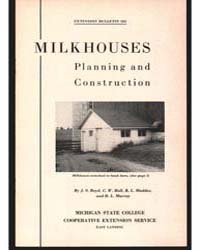 Milkhouses Planning and Construction, Do... by J. S. Boyd