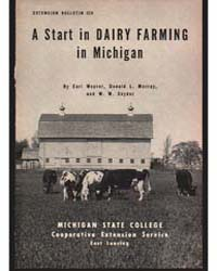A Start in Dairy Farming in Michigan, Do... by Earl Weaver