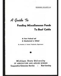 A Guides to Feeding Miscellaneous Feeds by Michigan State University