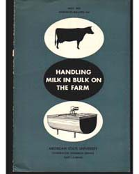 Handling Milk in Bulk on the Farm, Docum... by D. L. Murray