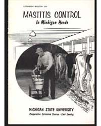 Mastitis Control In, Document E344 by Donald L. Murray