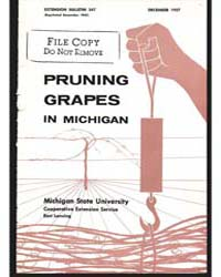 Pruning Grapes in Michigan, Document E34... by R. P. Larsen