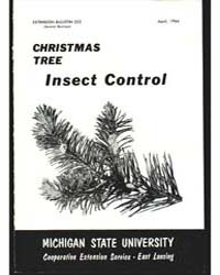 Christmas Tree Insect Control, Document ... by Ray L. James