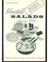 Versatile Salads, Bulletin 368, Document... by Michigan State University